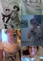 The Nightmare Before Christmas -  T-shirt/collage by AmorMoveoSol