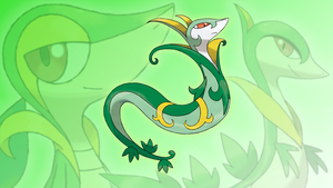 Snivy, Servine and Serperior Wallpaper by Glench