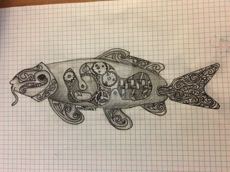Guinea pig powered koi fish by EnigmaticSerendipity
