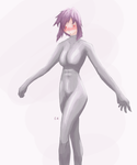 Motoko in Body Suit by raddedd