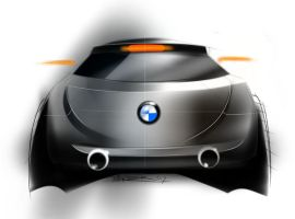 bmw 502 crossover coupe rear by p-sketch