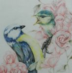 Blue Tit and Child by PennyMae