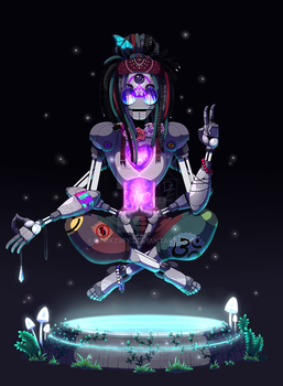 Mechanical hippie by DarkZiify