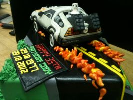 Back to the Future Cake- Rear View by Spudnuts