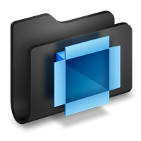 Blue and Black: Downloads Folder by X-a-l-a-n