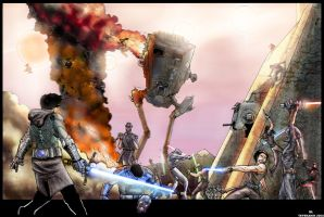 Star Wars Battle by Lu-Kutha