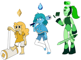 SUCOs Citrine,Euclase and Emerald by yukixtails