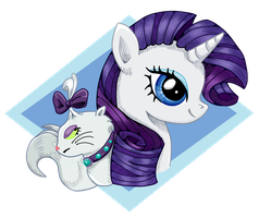 Rarity Keychain by BuckingAwesomeArt