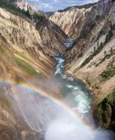 Rainbow at Lower Falls by Rourke-1