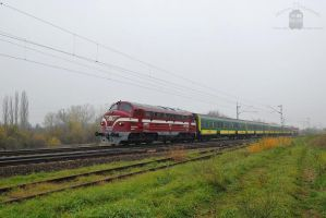 M61 010 and 2761 017 with special train near Gyor. by morpheus880223