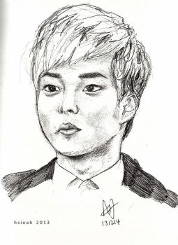 minseok by Hsioah