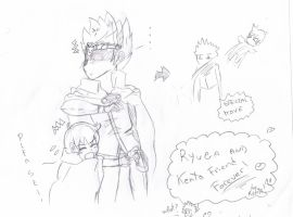 sketch ryuga and kenta friends forever by blacky27
