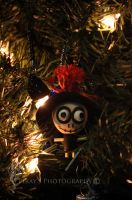 Wooden Voodoo Doll Ornament by Pi-ray
