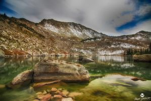 The Lake at the Top of the Mountain HDR by mjohanson
