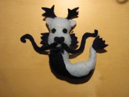 Asian Lung Dragon plush by lostrunaway