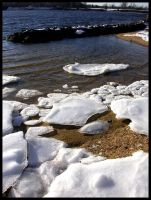 Ice On The Beach I by sillylittleidiot