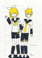 RIN AND LEN by Mortegax13