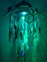 custom order dreamcatcher lamp lights on by Vision4LifeCro