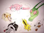 Pokemon Watercolor Practice by bmbbaby4