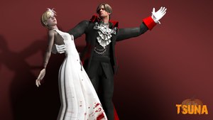 Vampire couple by Saskeni
