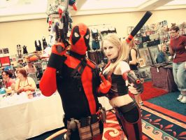 Deadpool and Harley AFO by piratearrow