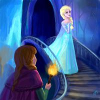 Anna and Elsa again - Frozen by DreamyArtistRoxy3