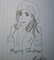 Christmas Drawing for Zoe/BookishBelle by F-Stormer-3000