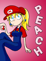 It's A-me, Peach by stef-o-chan