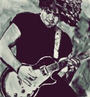 Ray Toro [Watercolour, edding, pilot] by EvaFaithHorror