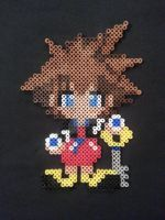 Sora Perler Bead Figure by AshMoonDesigns