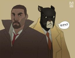 Luther and Blacksad by MekareMadness