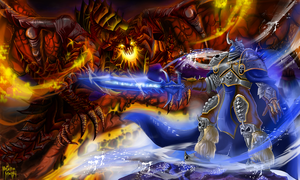 Deathwing VS The Lich King by besa1