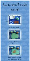 How to stencil a cake by JankaArt
