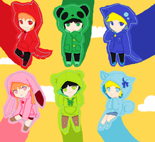 Powerpuff girls and rowdyruff boys Hoddies by Bright-Princess