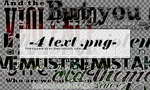 Zombie-inspired text PNG files by TheHopeMaker