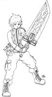 Cloud Strife Re-make by thezidane