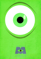 Monsters University Minimalist Poster by DirtyDean0