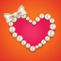 Vector Beautiful Pearl Heart Frame Valentines day by freevectorbg