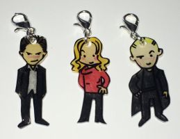 Buffy Spike Angel charms by Lovelyruthie