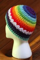 another Rainbow beanie by ToxieFox