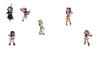 Crossover Sprites by emomage101