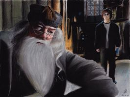 Dumbledore and Harry by ArielRGH