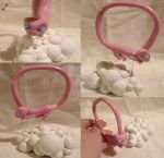 Mew Bracelet and Figure Stand by The-Erin-show