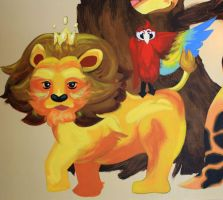 Lion and Parrot by 0AngelicWings0
