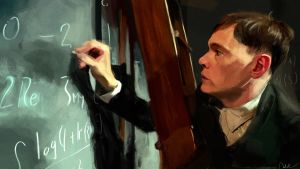 Hermann and his blackboard by Namecchan
