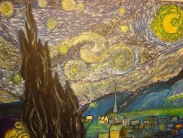 My painting to Van Gogh by evanescentdreams