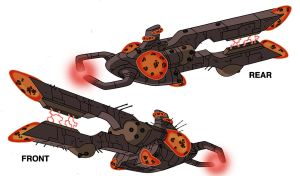 Ben 10 Vilgax ship design by Devilpig
