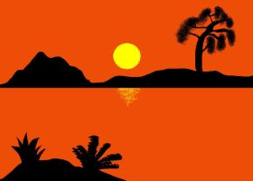 Tropical sunset by klakkid
