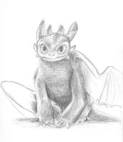 Toothless Pencil drawing by sammich