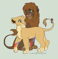 Lion couple adoptable CLOSED by Zari-Adoptables
